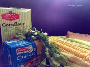 ingredients corn cheese collage