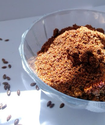 flaxseed with garlic chutney powder